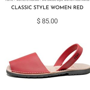 PONS Classic Style Avarcas Red size 8